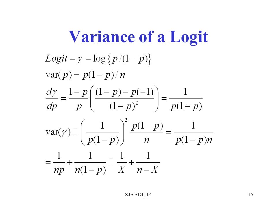 SJS SDI_1415 Variance of a Logit