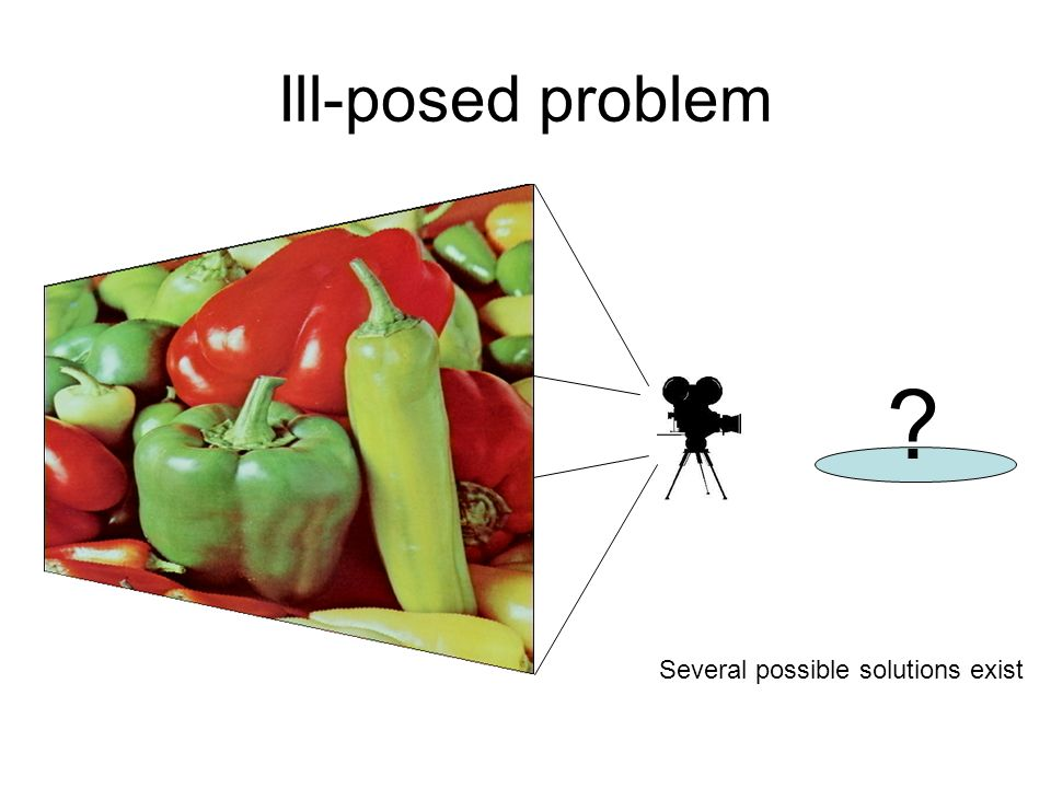 Ill-posed problem ? Several possible solutions exist