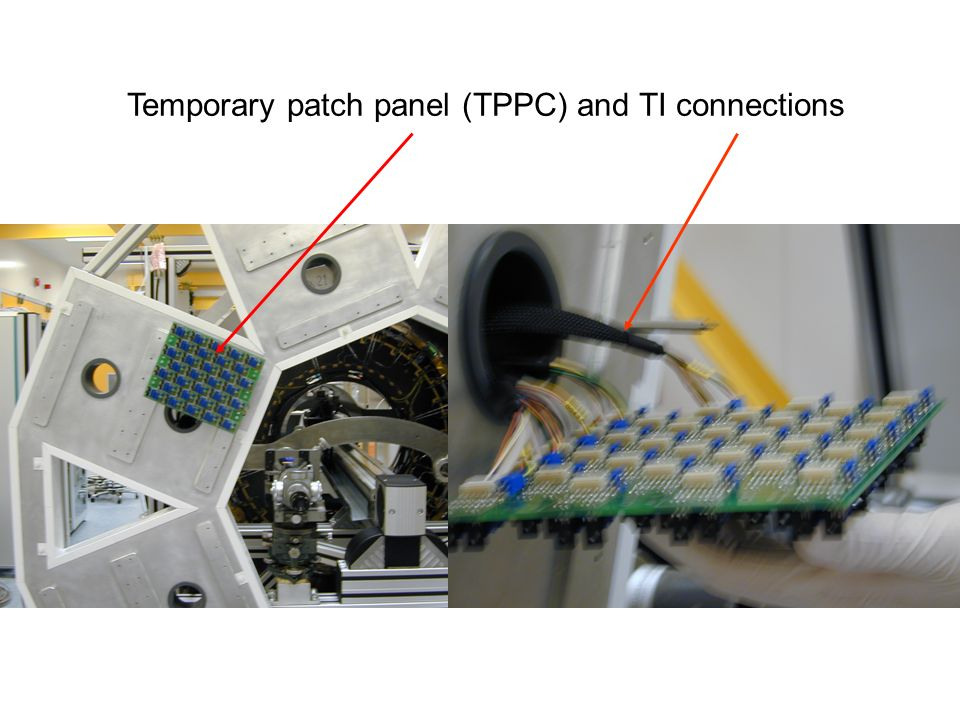 Temporary patch panel (TPPC) and TI connections