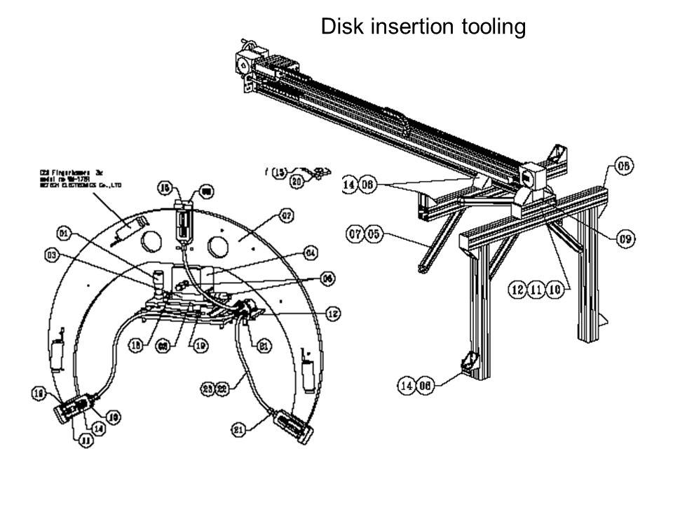 Disk insertion tooling
