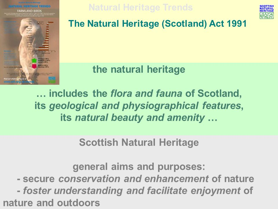 Natural Heritage Trends the problem issues diversity ……….