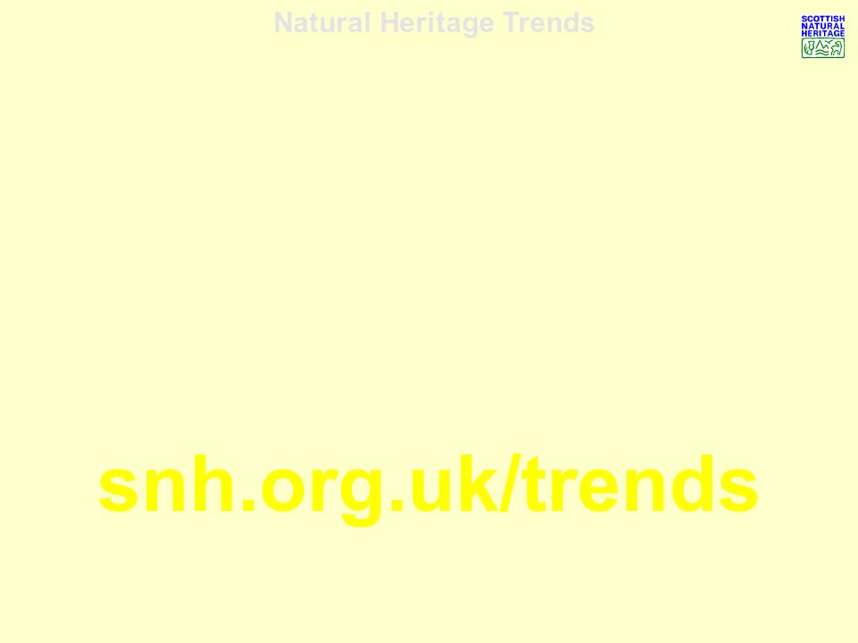 Natural Heritage Trends snh.org.uk/trends
