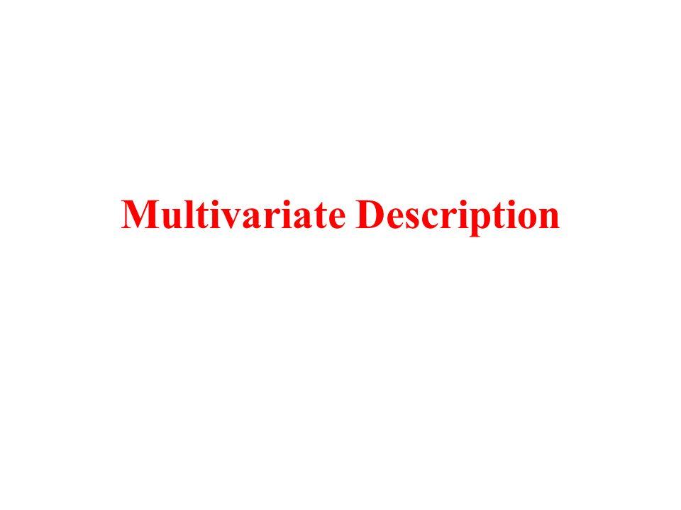 Multivariate Description