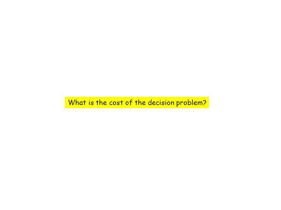 What is the cost of the decision problem?