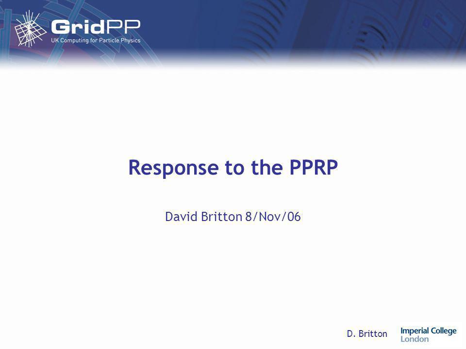 D. Britton Response to the PPRP David Britton 8/Nov/06