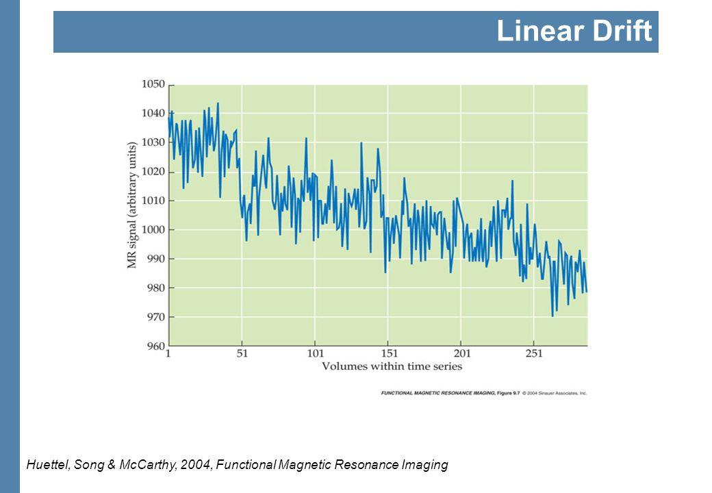 Linear Drift Huettel, Song & McCarthy, 2004, Functional Magnetic Resonance Imaging
