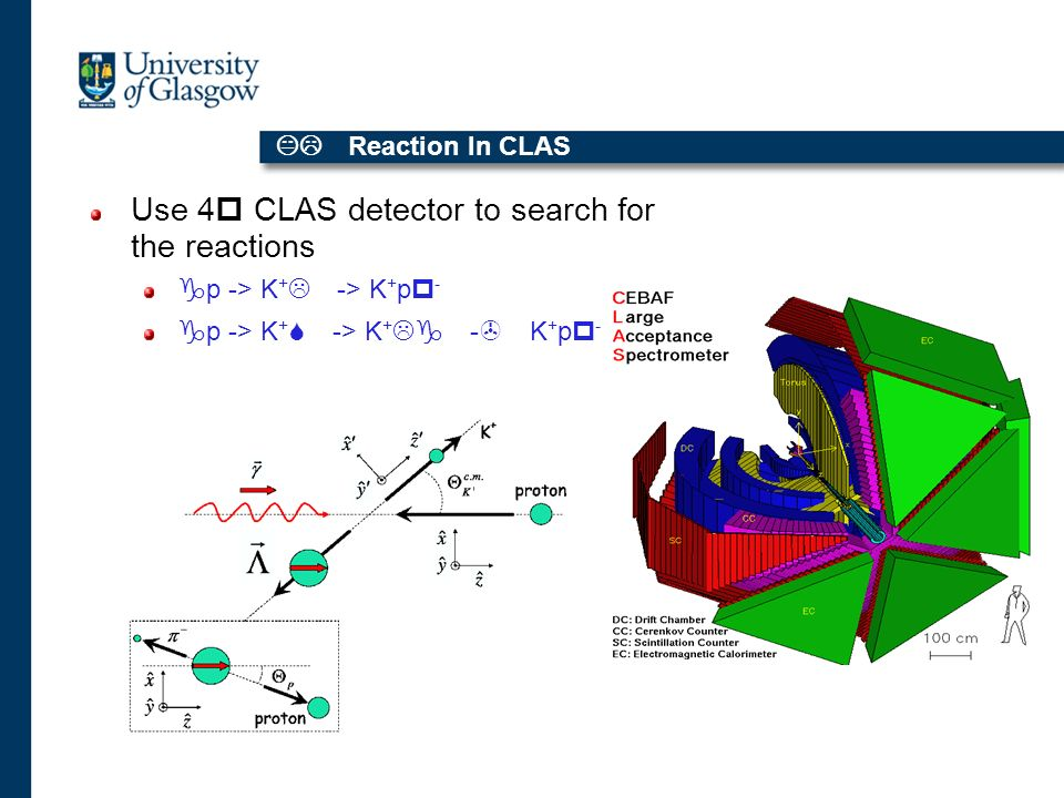 KL Reaction In CLAS Use 4p CLAS detector to search for the reactions gp -> K + L -> K + pp - gp -> K + S -> K + Lg -> K + pp - g