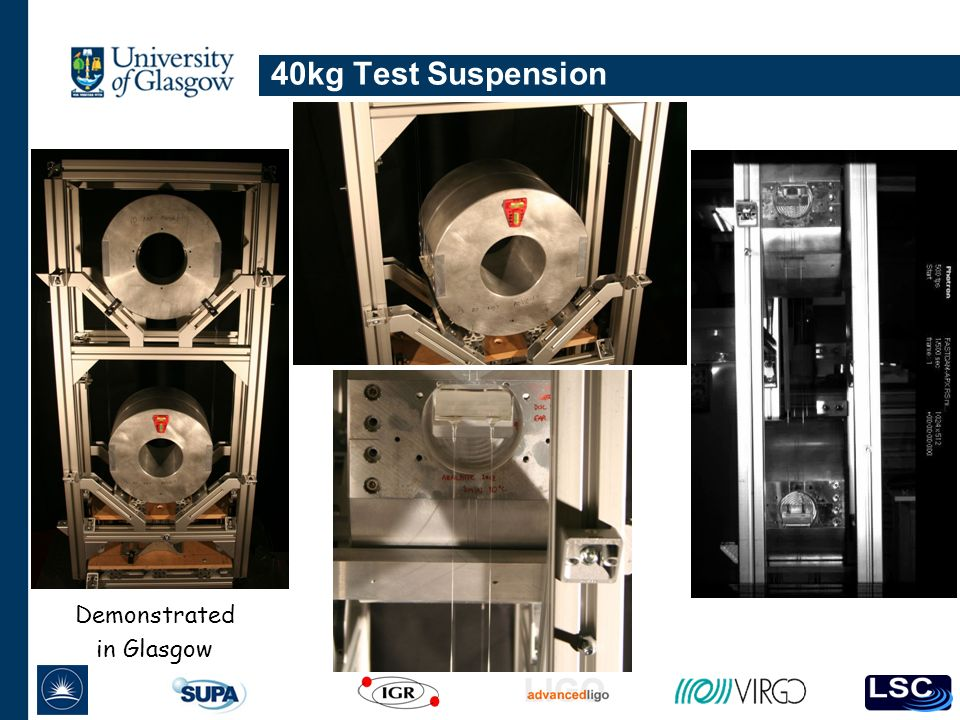 40kg Test Suspension Demonstrated in Glasgow