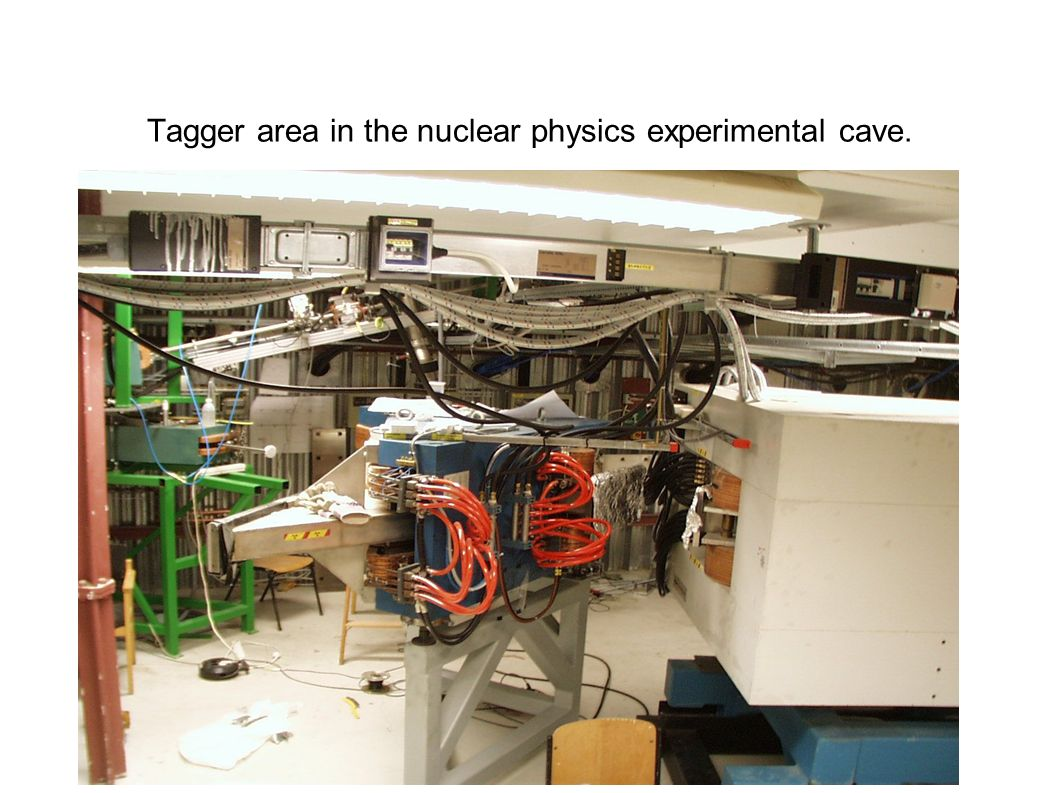 Tagger area in the nuclear physics experimental cave.