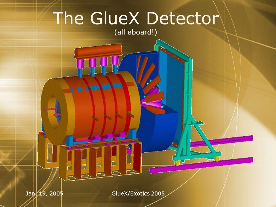 Jan. 19, 2005GlueX/Exotics 2005 The GlueX Detector (all aboard!)