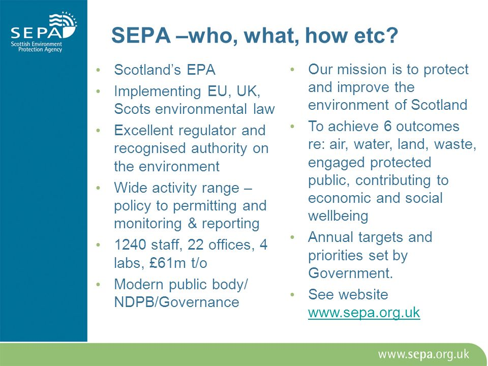 SEPA –who, what, how etc.