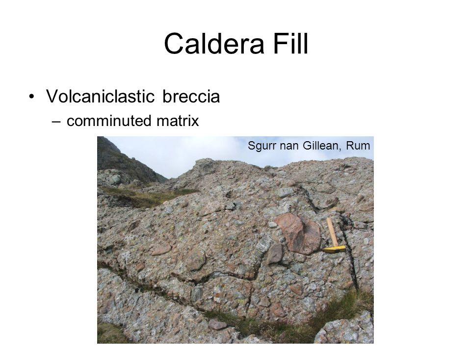 Caldera Fill Sgurr nan Gillean, Rum Volcaniclastic breccia –comminuted matrix