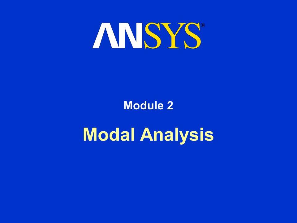Modal Analysis Module 2
