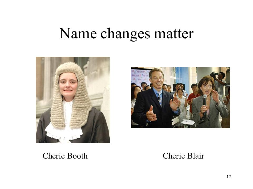 12 Cherie BoothCherie Blair Name changes matter
