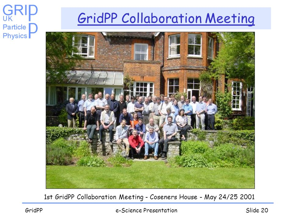 GridPPe-Science PresentationSlide 20 GridPP Collaboration Meeting 1st GridPP Collaboration Meeting - Coseners House - May 24/25 2001
