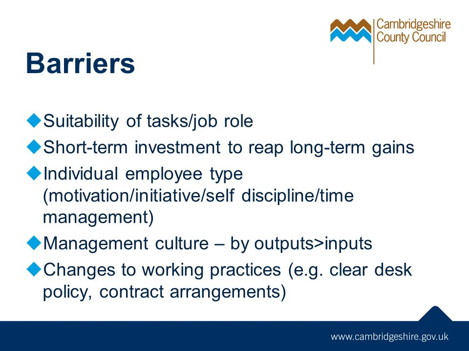 10 Barriers Suitability