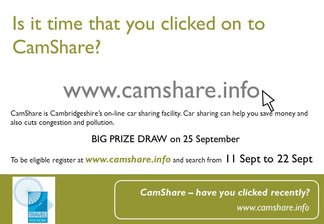 Is it time that you clicked on to CamShare. CamShare – have you clicked recently.