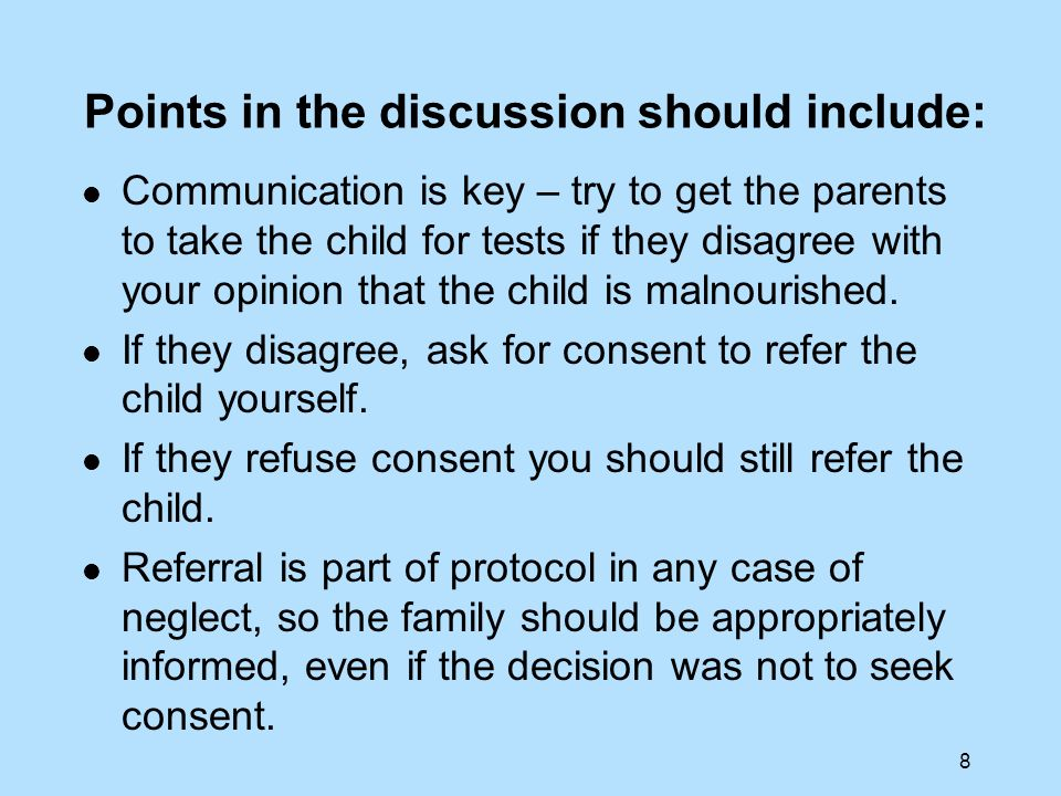 29 Points in the discussion should include: Is it implicit that John does not want his parents involved.
