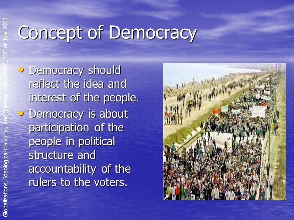 Violent image of Islam Globalizations, Ideological Democracy and Islamophobia, IHRC, 30 th of July 2003