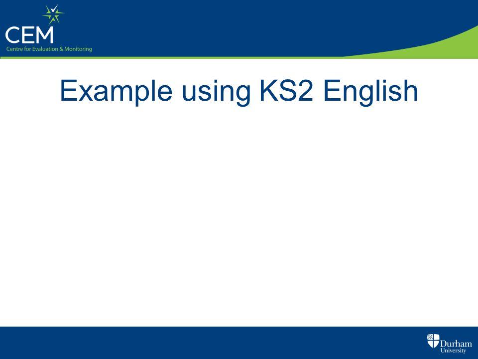 Example using KS2 English