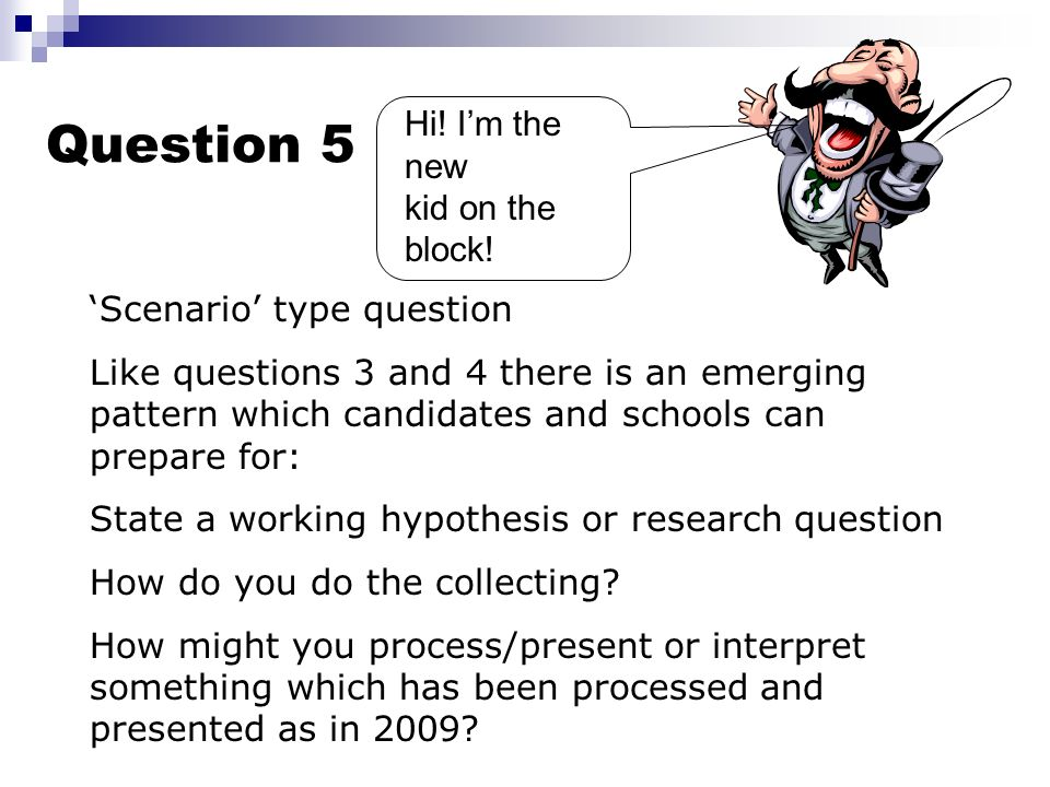 Question 4 Many candidates dont even seem to look at this question. They are very accessible questions. They can allow good candidates to excel. SQA w