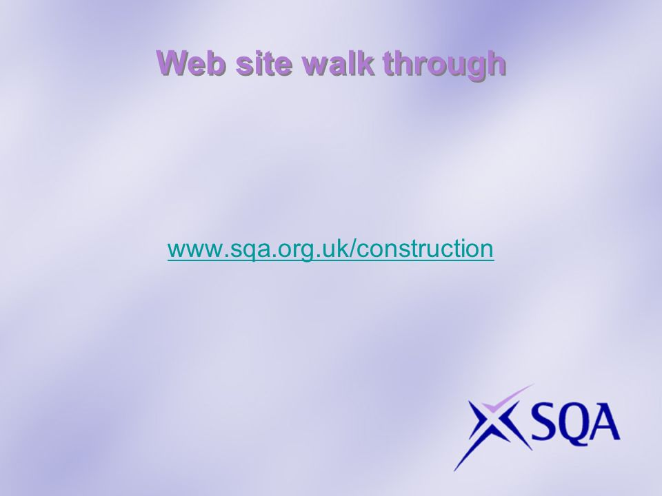 Web site walk through