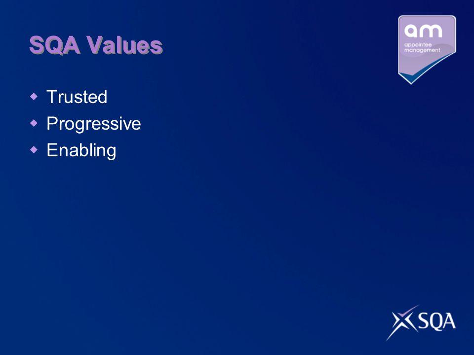 SQA Values Trusted Progressive Enabling