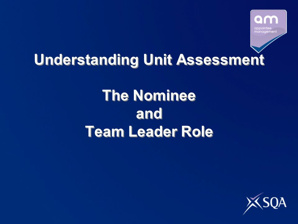Pre-work for Understanding Unit Assessment Take 10 minutes now and discuss in pairs or small groups your personalised learning and development plan.
