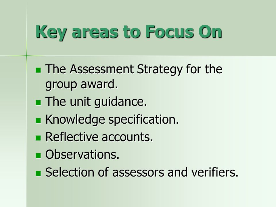Assessment Strategy It has been produced by the UK Joint Project for Health and Social Care (which includes the SSSC).