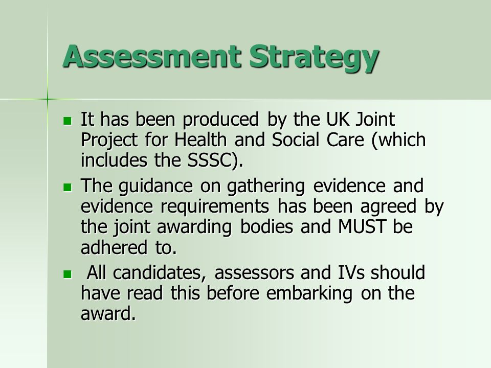 Unit Guidance Provides information about observation requirements for the unit.