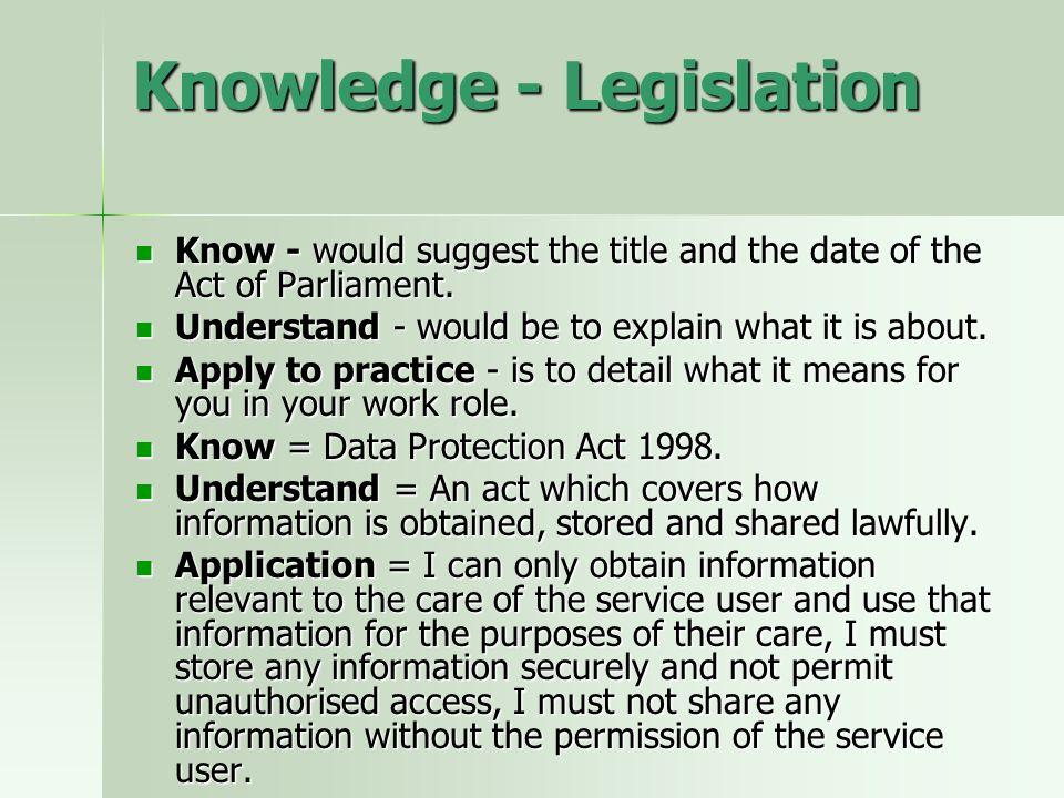 Knowledge - Legislation Know - would suggest the title and the date of the Act of Parliament.