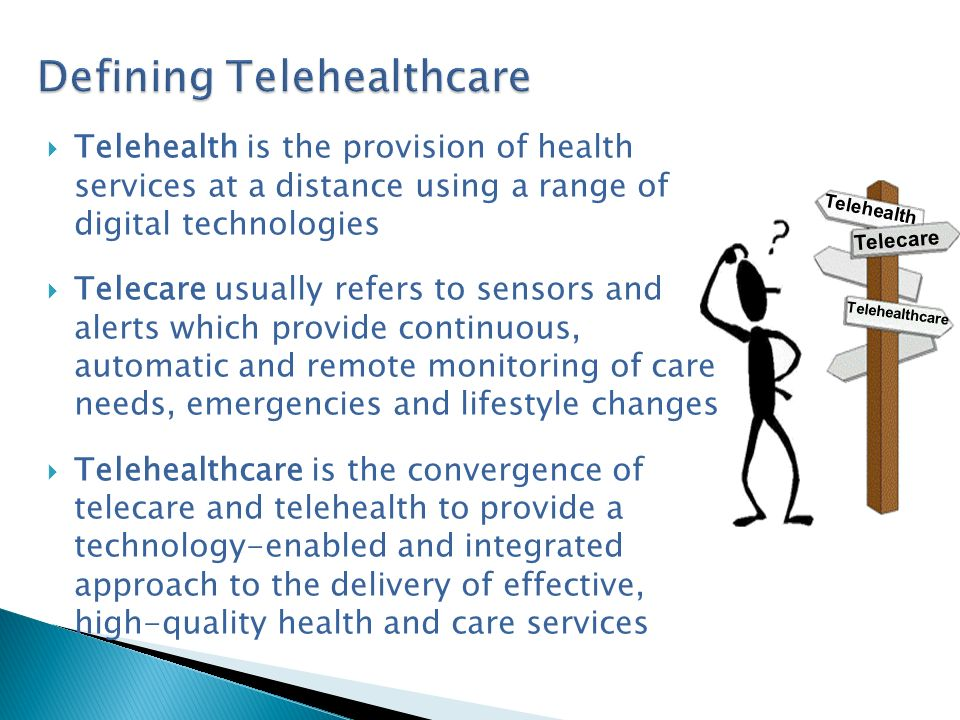 Scottish Centre for Telehealth – now SCTT National programmes – Stroke / Heart Disease COPD Paediatrics Mental Health National VC Infrastructure Supports Health Boards to develop Telehealth services Awareness raising