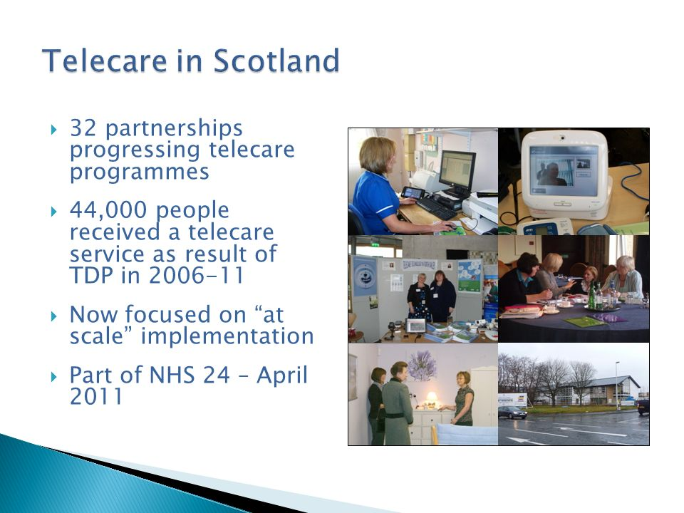 Published in March 2010 Outlined planned activity for 2010-12 Linked telehealthcare workforce development to health, social care and housing strategic agendas Aimed to secure commitment and resources for future workforce development