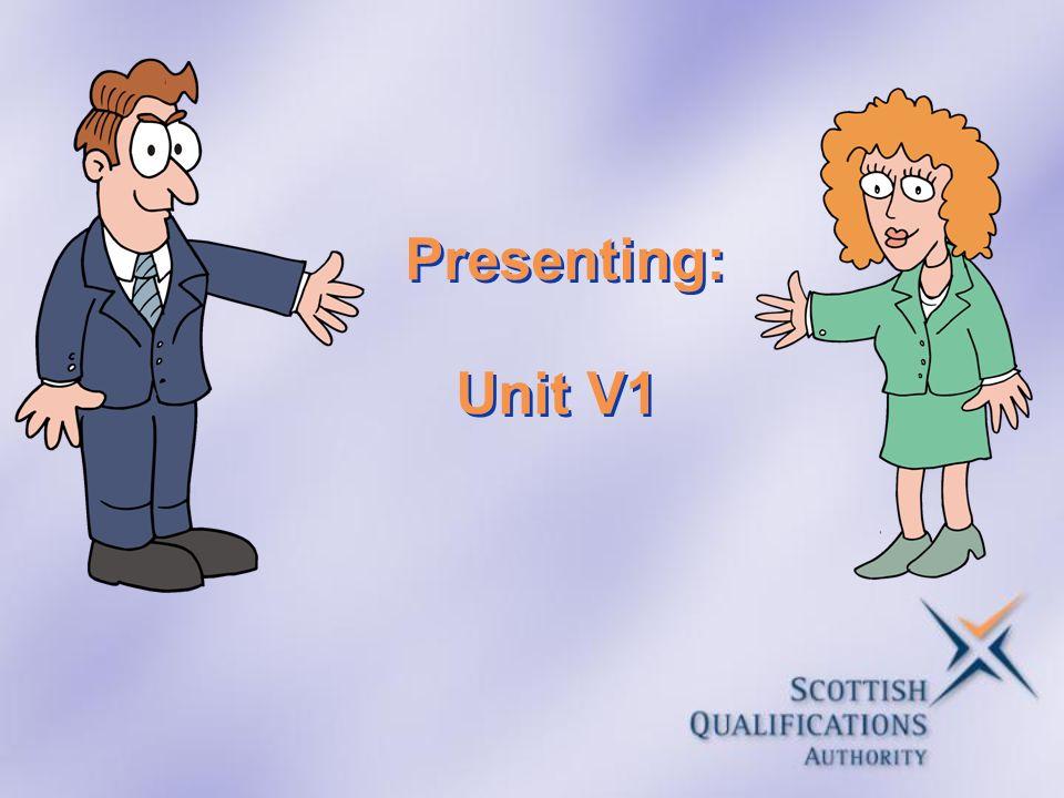 Presenting: Unit V1
