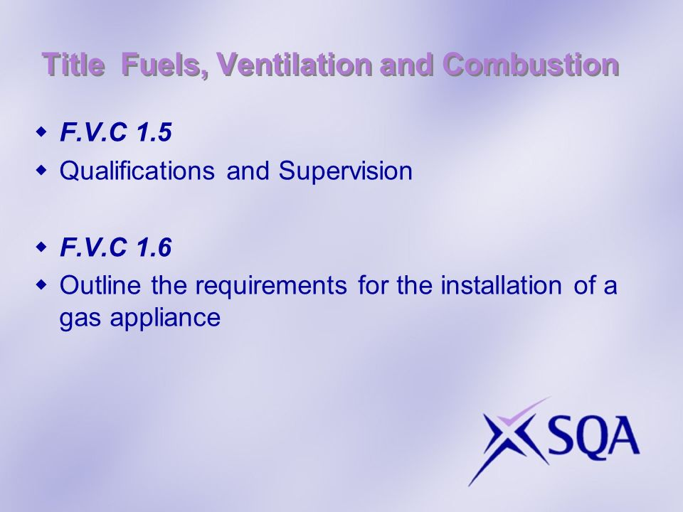 Title Fuels, Ventilation and Combustion F.V.C.1.10 Flue Gas Analysis