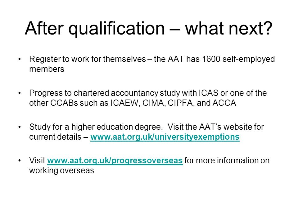 After qualification – what next.