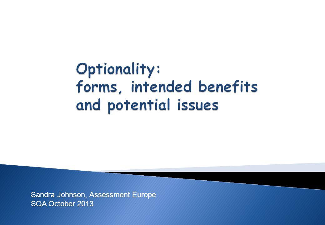 Sandra Johnson, Assessment Europe SQA October 2013