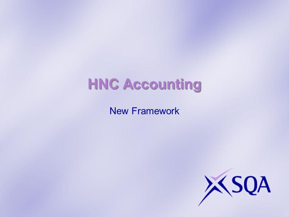 HNC Accounting New Framework