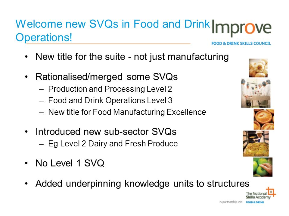 Welcome new SVQs in Food and Drink Operations.