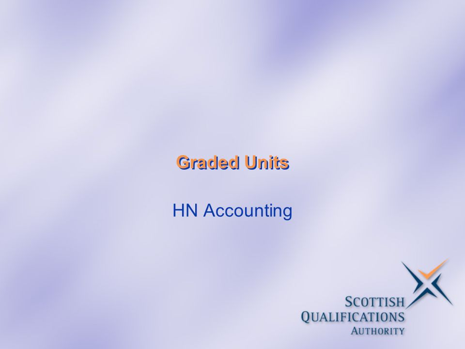 Graded Units HN Accounting