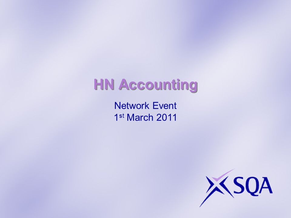 HN Accounting Network Event 1 st March 2011
