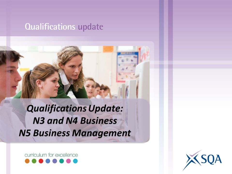 Qualifications Update: N3 and N4 Business N5 Business Management Qualifications Update: N3 and N4 Business N5 Business Management