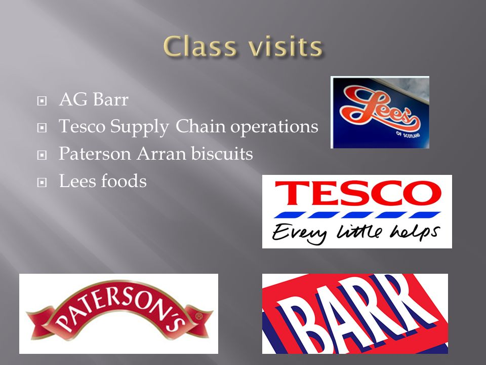 AG Barr Tesco Supply Chain operations Paterson Arran biscuits Lees foods