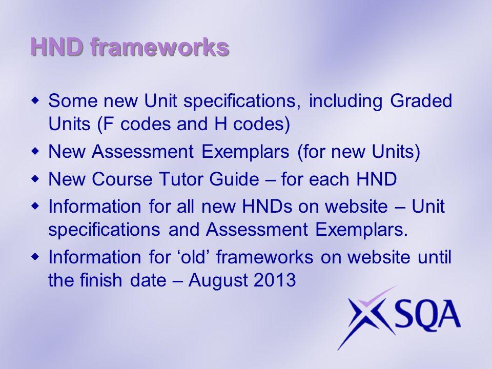 HND frameworks cont.