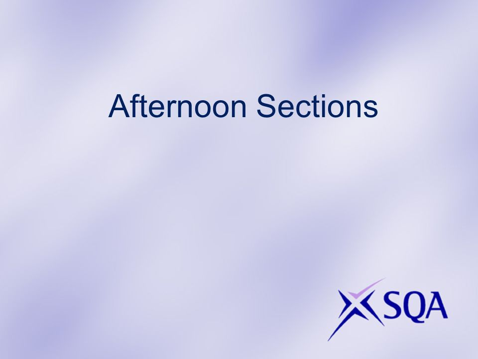 Afternoon Sections