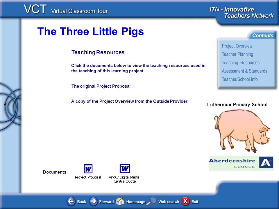 The Three Little Pigs Luthermuir Primary School Teaching Resources Click the documents below to view the teaching resources used in the teaching of th