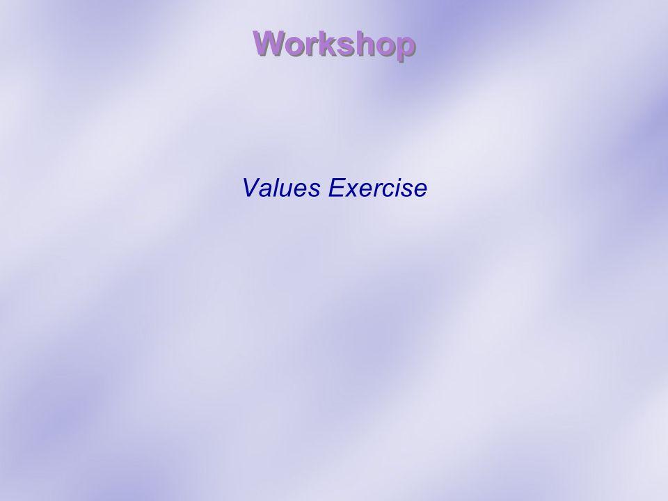 Workshop Values Exercise