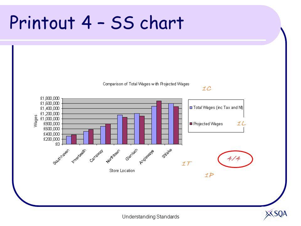 Printout 4 – SS chart Understanding Standards 4/4 1L 1P 1T 1C