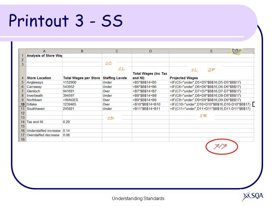 Printout 3 - SS Understanding Standards 7/7 1L 1D 1L 1R 2F 1C