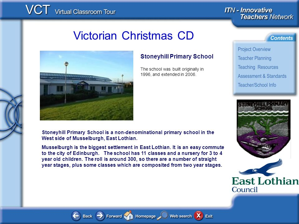 Victorian Christmas CD Stoneyhill Primary School The school was built originally in 1996, and extended in 2006.